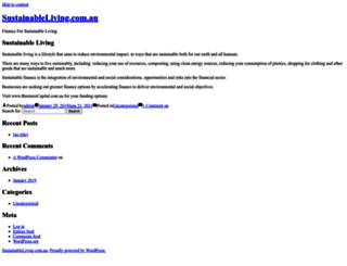 sustainableliving.com.au screenshot