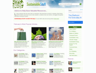 sustainablestuff.co.uk screenshot