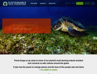 sustainabletravel.org screenshot