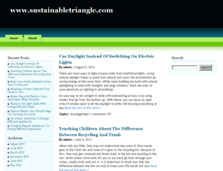 sustainabletriangle.com screenshot
