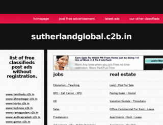 sutherlandglobal.c2b.in screenshot