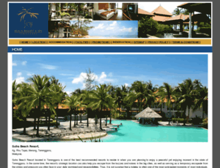 sutrabeachresort.com screenshot