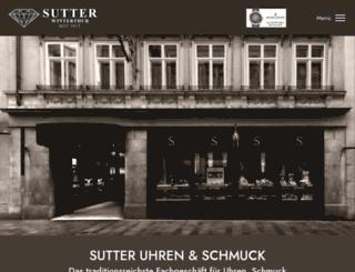 sutter-uhren.ch screenshot