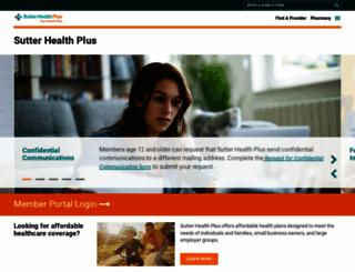 sutterhealthplus.org screenshot
