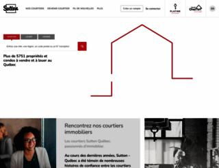 suttonquebec.com screenshot