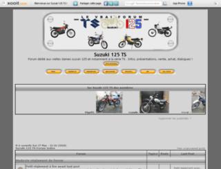 suzuki125.vraiforum.com screenshot