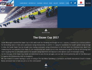suzukigixxercup.in screenshot