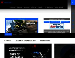 suzukimotorcycle.co.in screenshot