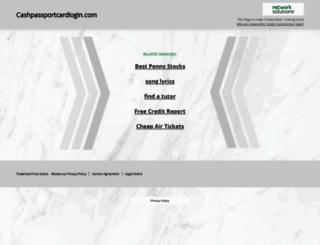sv2.cashpassportcardlogin.com screenshot