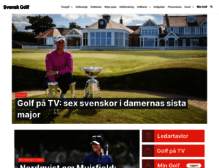 svenskgolf.se screenshot
