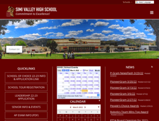 svhs-simi-ca.schoolloop.com screenshot