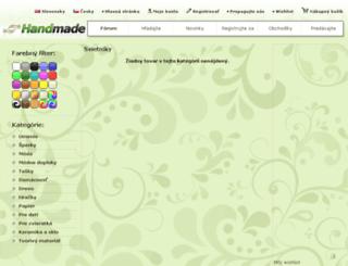 svietniky.handmade.sk screenshot