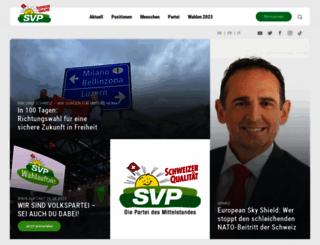 svp.ch screenshot