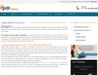 svptrainings.com screenshot