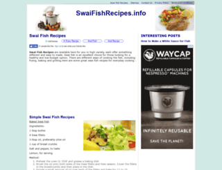 swaifishrecipes.info screenshot