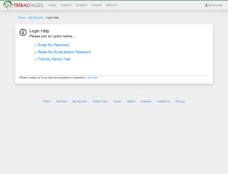 swanepoelfamily.tribalpages.com screenshot