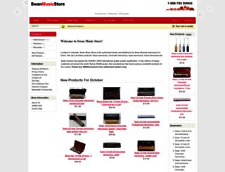 swanmusicstore.com screenshot