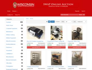 swapauction.wisc.edu screenshot
