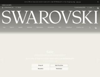 swarovski.com screenshot