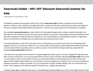 swarovskioutlets.swarovskiz.com screenshot
