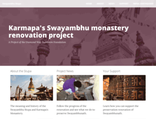 swayambhu.buddhism-foundation.org screenshot