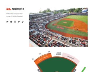 swayzefield.com screenshot