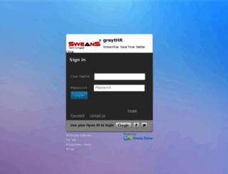sweans.greythr.com screenshot