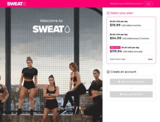 sweat.kaylaitsines.com screenshot