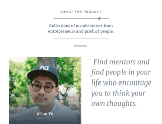 sweattheproduct.com screenshot