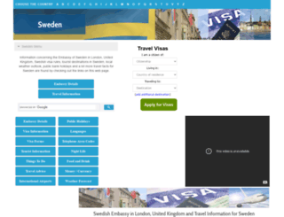 sweden.embassyhomepage.com screenshot