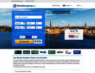 sweden.rentalcargroup.com screenshot