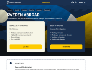 swedenabroad.com screenshot