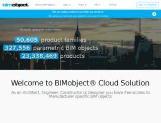 swedese.bimobject.com screenshot