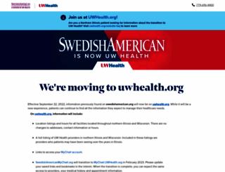 Swedishamerican Org Screenshot