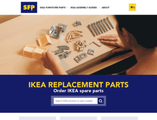 swedishfurnitureparts.com screenshot