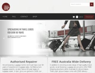sweeneyluggage.com.au screenshot