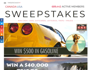 sweepstakes.ca screenshot