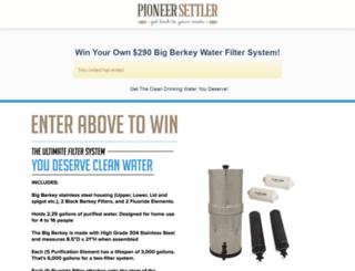 sweepstakes.pioneersettler.com screenshot