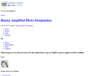 sweepstakes.visitnc.com screenshot