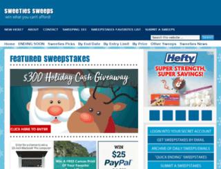 sweepstakescorner.com screenshot