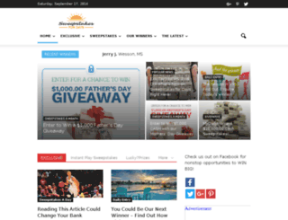sweepstakesfordays.com screenshot