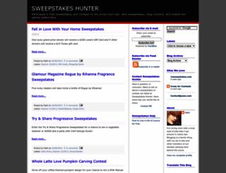 sweepstakeshunter.blogspot.com screenshot