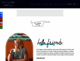 sweetandsavoryfood.com screenshot
