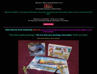 sweetaviationmodels.com screenshot