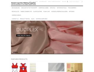sweetcupsbrasupply.com screenshot