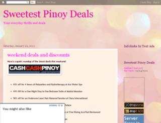 sweetestpinoydeals.blogspot.com screenshot