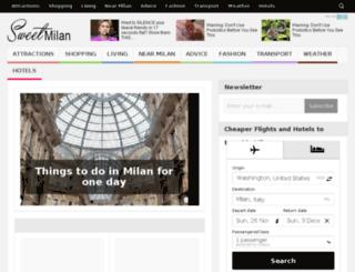 sweetmilan.com screenshot