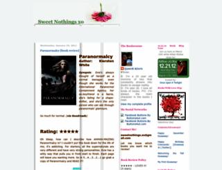 sweetnothingsxo.blogspot.com screenshot