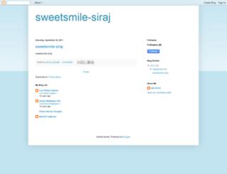 sweetsmile-siraj.blogspot.com screenshot