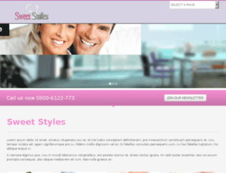 sweetstyle.dragonkingwebsitedesign.co.uk screenshot
